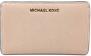 Michael Kors Jet Set Travel Slim Bifold Saffinao Leather Wallet