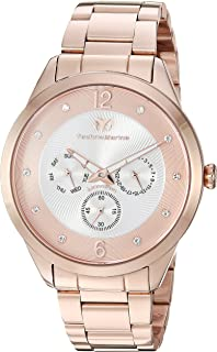 Men's Moonsun Quartz Watch with Stainless-Steel Strap, Rose Gold, 20 (Model: TM-117042)