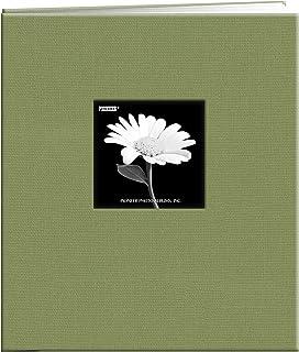 "Pioneer Fabric Frame Post Bound Scrapbook 8.5""X11""-Sage Green"