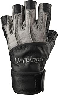 Harbinger BioForm Wristwrap Weightlifting Glove with Heat-Activated Cushioned Palm (Pair)