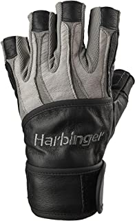 Harbinger Men's BioForm WristWrap Weightlifting Glove with Heat-Activated Cushioned Palm (Pair)