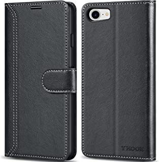 ykooe iPhone 7 Phone Case, iPhone SE 2020 Leather Mobile Phone Cover PU Leather Wallet Flip Case for Apple iPhone 7/8/ iPh...