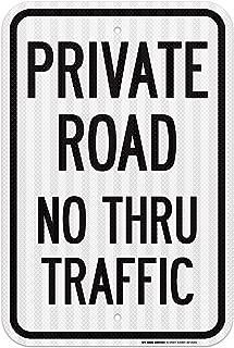 Private Road No Thru Traffic Sign - 12