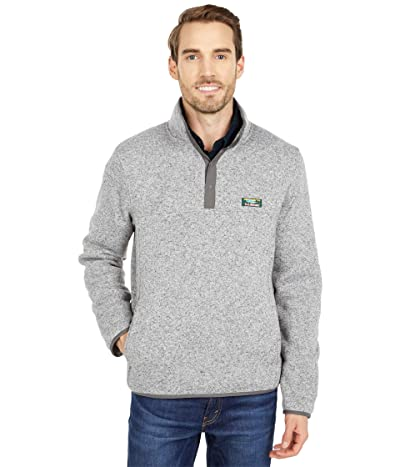 L.L.Bean Sweater Fleece Pullover (Grey Heather) Men