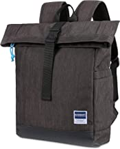 BAGSMART Travel Laptop Backpack, Roll-Top Backpack, Water Resistant Daypack for Men & Women Fits 15.6 Inch Laptop and Notebook, 22L
