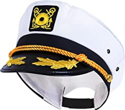 Kangaroo Adjustable Adult Captain's Yacht Cap, White