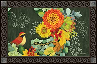 Studio M MatMates Fall Wreath Decorative Floor Mat Indoor or Outdoor Doormat with Eco-Friendly Recycled Rubber Backing, 18 x 30 Inches