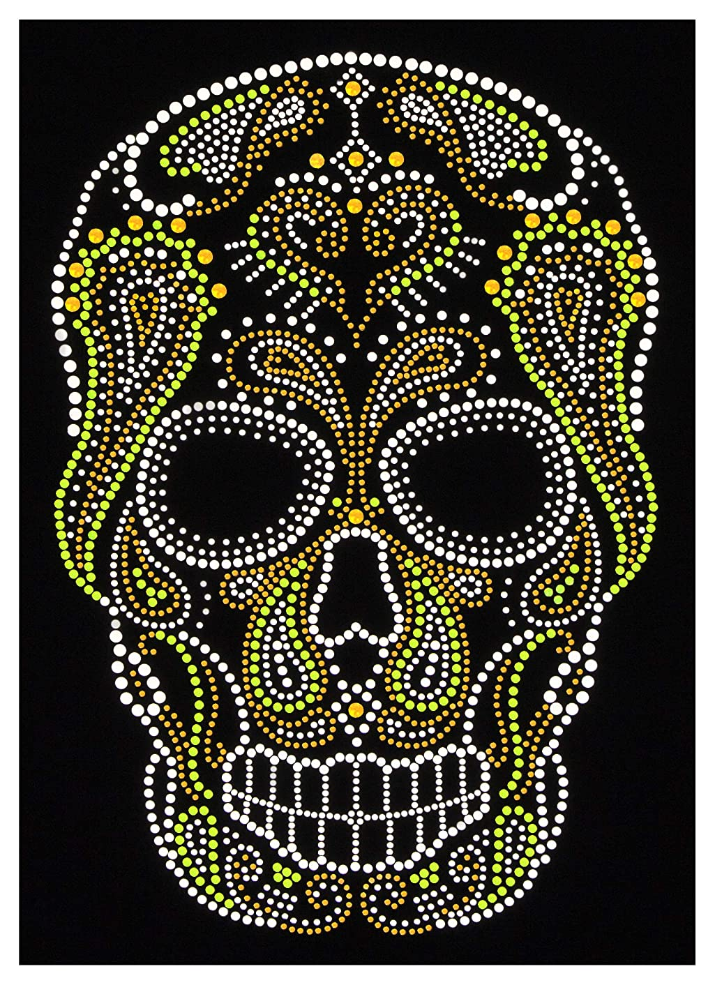 Iron-On Sequins DIY applique. Cute, sparkly hotfix embellishment. Skull