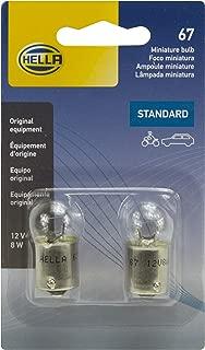 HELLA 67TB Twin Blister Standard Miniature 67 Bulbs, 12V, 8W, 2 Pack
