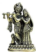 StonKraft Brass Marble Radha Krishna Radha (6