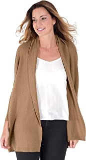 8417935c50b Womens Cashmere and Merino Relaxed Rib Knitted Cardigan