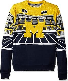 FOCO NCAA Michigan Wolverines Mens Light Up Bluetooth Speaker Sweaterlight Up Bluetooth Speaker Sweater