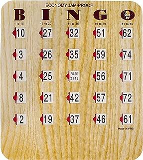 MR CHIPS Jam Proof Fingertip Bingo Cards with Sliding Windows