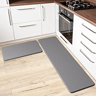 Anti-Fatigue Kitchen Mat & Rug - Set of 2 Cushioned Non-Slip Waterproof Kitchen Floor Mats, Great for Use in Front of Sin...