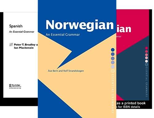 Routledge Essential Grammars (28 Book Series)