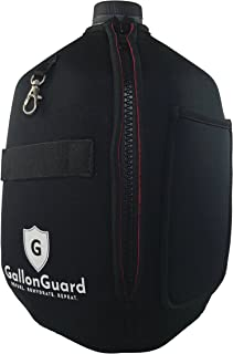 Gallon Guard Gallon Jug Insulated Cover, Cover Any Standard Gallon Water or Milk Jug, in Black, and Camo, Sports Water Bottle Accessory, Bodybuilding, Fitness Gear New Upgrade- Durable YKK Zipper