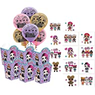 LOL Suprise Dolls Girl's Birthday Party Favors for 6 Guests! Includes Favor Boxes, Balloons &...