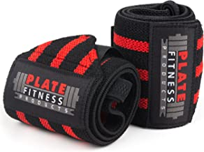 """Wrist Wraps (Premium Quality, 21"""" x 3"""") by Plate Fitness Products – Superior Materials – Weight Lifting, Powerlifting, Cro..."""