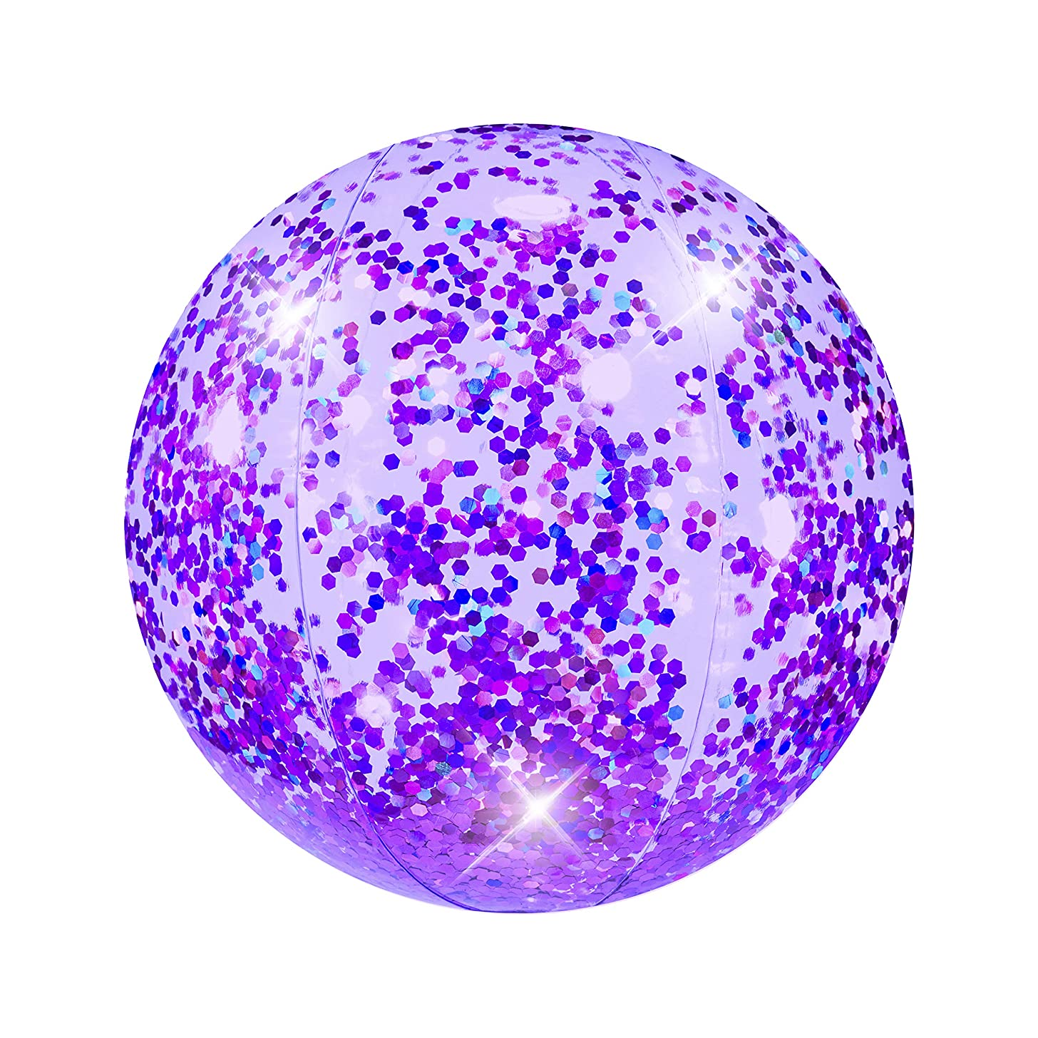 Poolcandy Inflatable Glitter Beach Ball - Purple