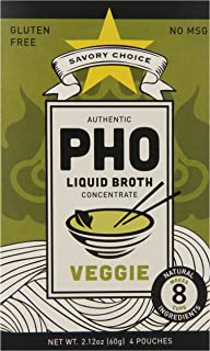 Savory Choice Pho Liquid Broth Concentrate, Vegetable, 2oz (12 Pack)