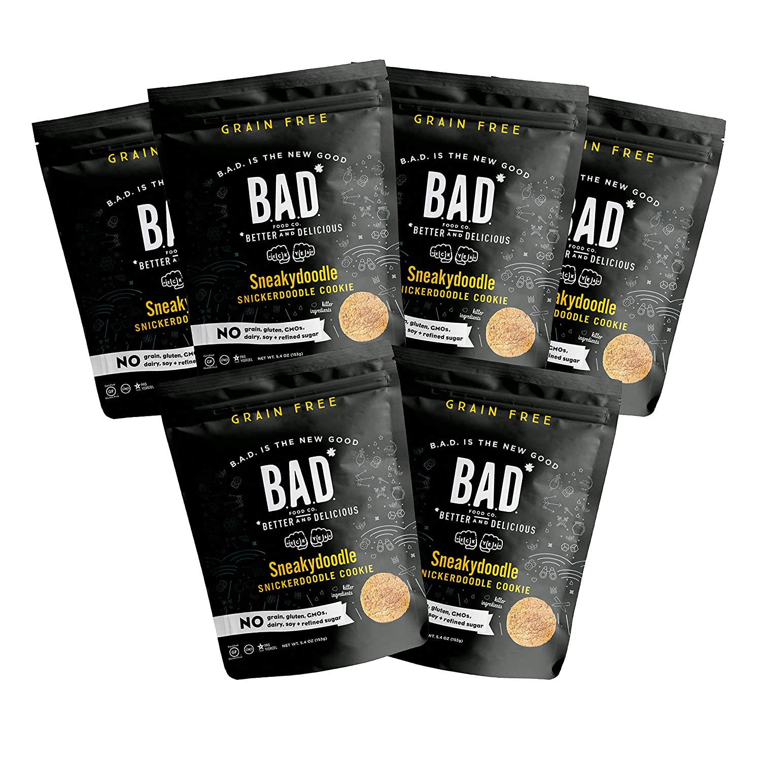 B.A.D. FOOD CO Bombing new work Sneakydoodle - – Cookies 5.4oz 6 Sales results No. 1 Snickerdoodle
