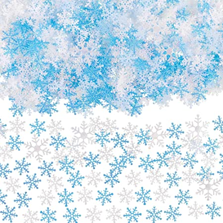 500pcs Mixed Shimmer Blue /& White Snowflakes Confetti Table Decor for Xmas Party Birthday HOWAF Christmas Snowflake Confetti Winter Frozen Wedding New Year Holiday Party Christmas Decorations
