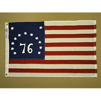 Vtg 76 Bennington Grommeted Flag NOS  3/' × 5/'