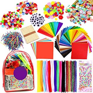 iZoeL 2000pcs Pipe Cleaners Crafts Kit, Enfants Loisirs créatifs Activites manuelles, Tissu Feutre Fil Chenille Pompon Yeu...