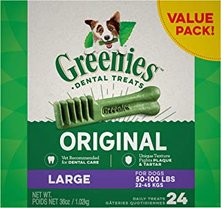 GREENIES Original Large Dog Natural Dental Treats (50 -100 lb. dogs)