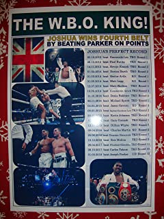 Lilywhite Multimedia Anthony Joshua beats Joseph Parker - Boxing - 2018 - souvenir print