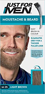Just For Men - Tinte de barba y bigote para hombre color bronceado (M25) 1/ paquete