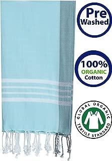 Prewashed GOTS certified ORGANIC Cotton Peshtemal Beach Towel, Bath Towel Pestemal (39