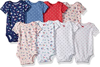 c6b2aea15 Carter's Baby Girls' 8-Pack Short-Sleeve Bodysuits