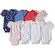 Baby Girls' 8-Pack Short-Sleeve Bodysuits