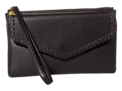 Hobo Leather Wristlet (Black) Wallet Handbags