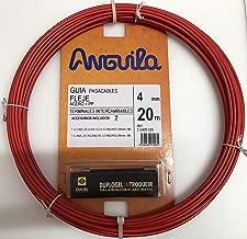 Amarillo Kit de Enhebrado de Cables TLYCRQJXF 10m Guia Pasacables Enhebrador de Alambre Electrico Electricistas Alambre Threading Dispositivo
