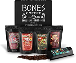 Bones Coffee World Tour Sample Pack, Whole Bean Coffee Sampler Gift Box Set, Pack of 5 Assorted Single-Origin Whole Coffee...
