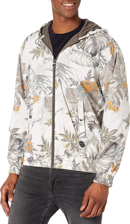 GUESS mens Riot Floral Camo Jacket