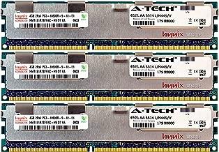 A-Tech Hynix 12GB Kit 3X 4GB PC3-10600 1.5V for HP ProLiant DL380 G7 DL380P G8 DL385P G8 DL560 G8 713985-B21 DL580 G7 DL585 G7 DL980 G7 ML330 G6 ML350E G8 ML350P G8 WS460c G8 BL460C G7 Memory RAM