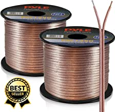 50ft 12 Gauge Speaker Wire - Copper Cable in Spool for Connecting Audio Stereo to Amplifier, Surround Sound System, TV Home Theater and Car Stereo - PSC1250