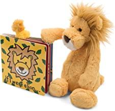 Jellycat Book and Stuffed Animal Gift Set, If I were a Lion Board Book and Bashful Lion