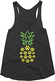Spunky Pineapple - Pineapple Dog Paw Print Tank Top