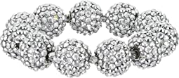 Kenneth Jay Lane - Crystal Pave Ball Stretch Bracelet