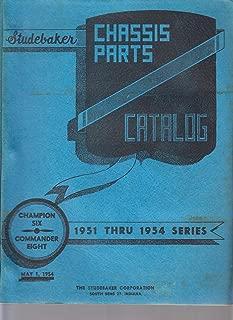 Studebaker chassis parts catalog Champion six Commander eight 1951 thru 1954 series