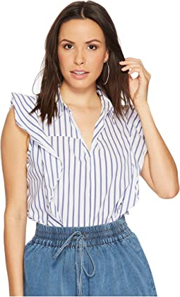 Bishop + Young - Stripe Ruffle Top