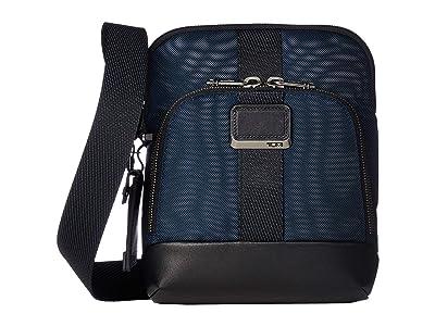 Tumi Alpha Bravo Barksdale Crossbody (Navy) Cross Body Handbags