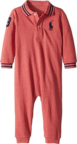 Cotton Mesh Polo Coverall (Infant)