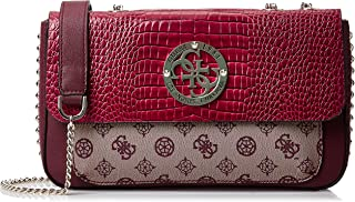 GUESS Womens Convertible Crossbody Flap Bag, Merlot Multi - SC744121