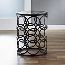 FirsTime & Co. Interlocking Circles Side Accent Table, 22H x 16.75W x 16.75D, Oil Rubbed Bronze