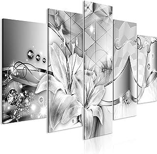 murando Impression sur Toile intissee Fleurs 200x100 cm 5 Pieces Tableau Tableaux Decoration Murale Photo Image Artistique...